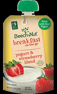 yogurt & strawberry blend breakfast on-the-go pouch