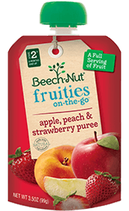apple, peach & strawberry fruities on-the-go pouch