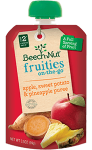 apple, sweet potato & pineapple fruities on-the-go pouch