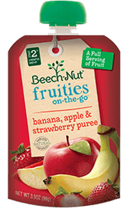 banana, apple & strawberry fruities on-the-go pouch