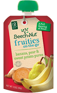 banana, pear & sweet potato fruities on-the-go pouch