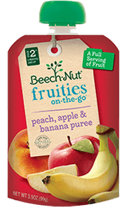 peach, apple & banana fruities on-the-go pouch