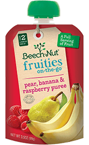 pear, banana & raspberry fruities on-the-go pouch