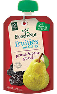 pear & prune fruities on-the-go pouch