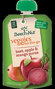 apple, beet & mango veggies on-the-go pouch