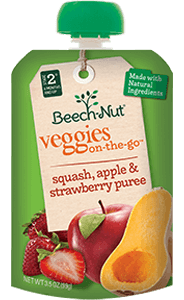 squash, apple & strawberry veggies on-the-go pouch
