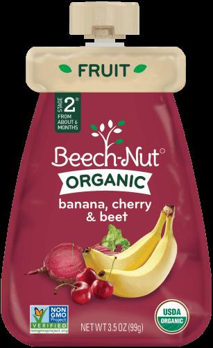 organic banana, cherry & beet pouch