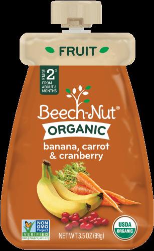 organic banana, carrot & cranberry pouch