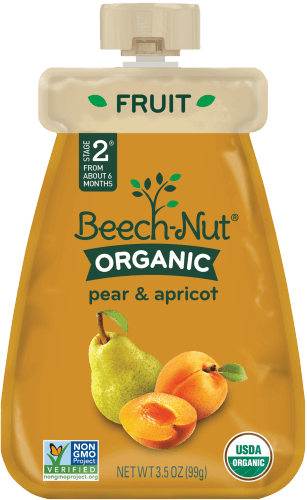 organic pear & apricot pouch