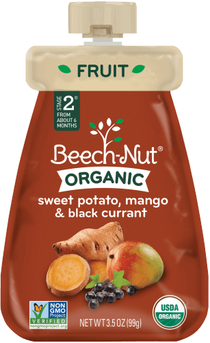 organic sweet potato, mango & currant pouch