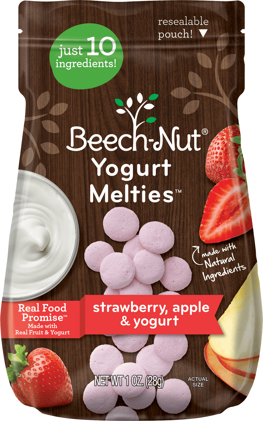 apple strawberry yogurt melties