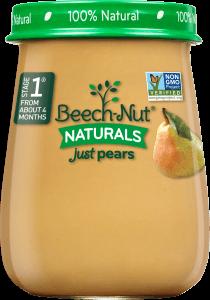 naturals just pears jar