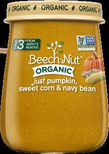 organic just pumpkin, sweet corn & navy bean jar
