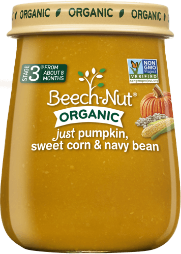 organic just pumpkin, sweet corn & navy bean jar