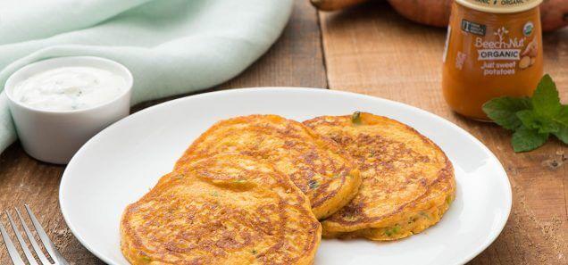 Anytime Sweet Potato Pancakes