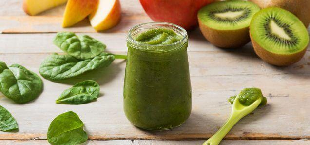 Apple, Kiwi & Spinach Purée