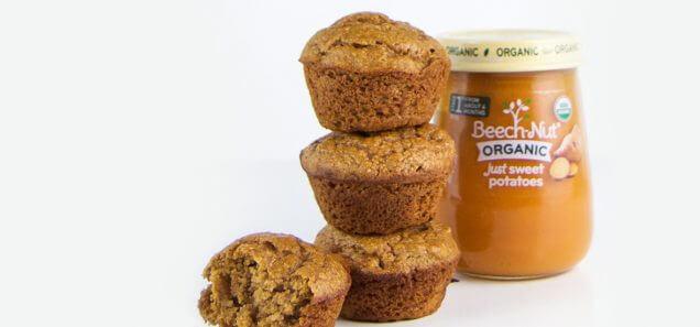 Spiced Sweet Potato Mini Muffins