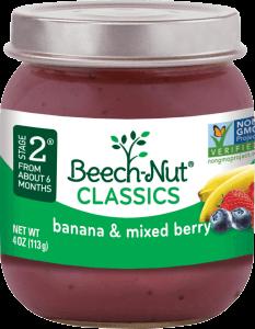 classics banana & mixed berries jar