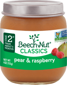 classics pear & raspberry jar