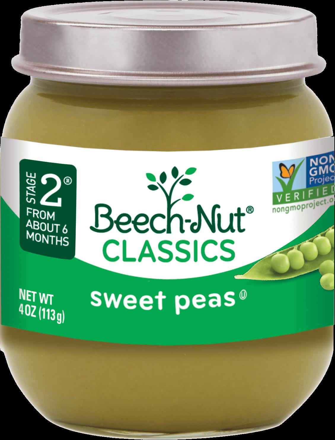 Classics Sweet Peas―stage 2 Baby Food Jars