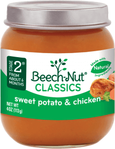 classics sweet potato & chicken jar
