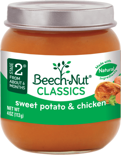 classics sweet potato & chicken jar