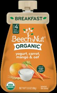 organic yogurt, carrot, mango & oat pouch