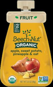 organic apple, sweet potato, pineapple & oat pouch