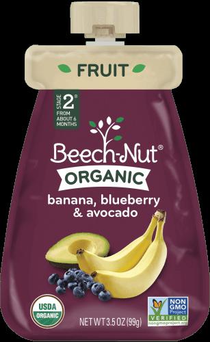 organic banana, blueberry & avocado pouch
