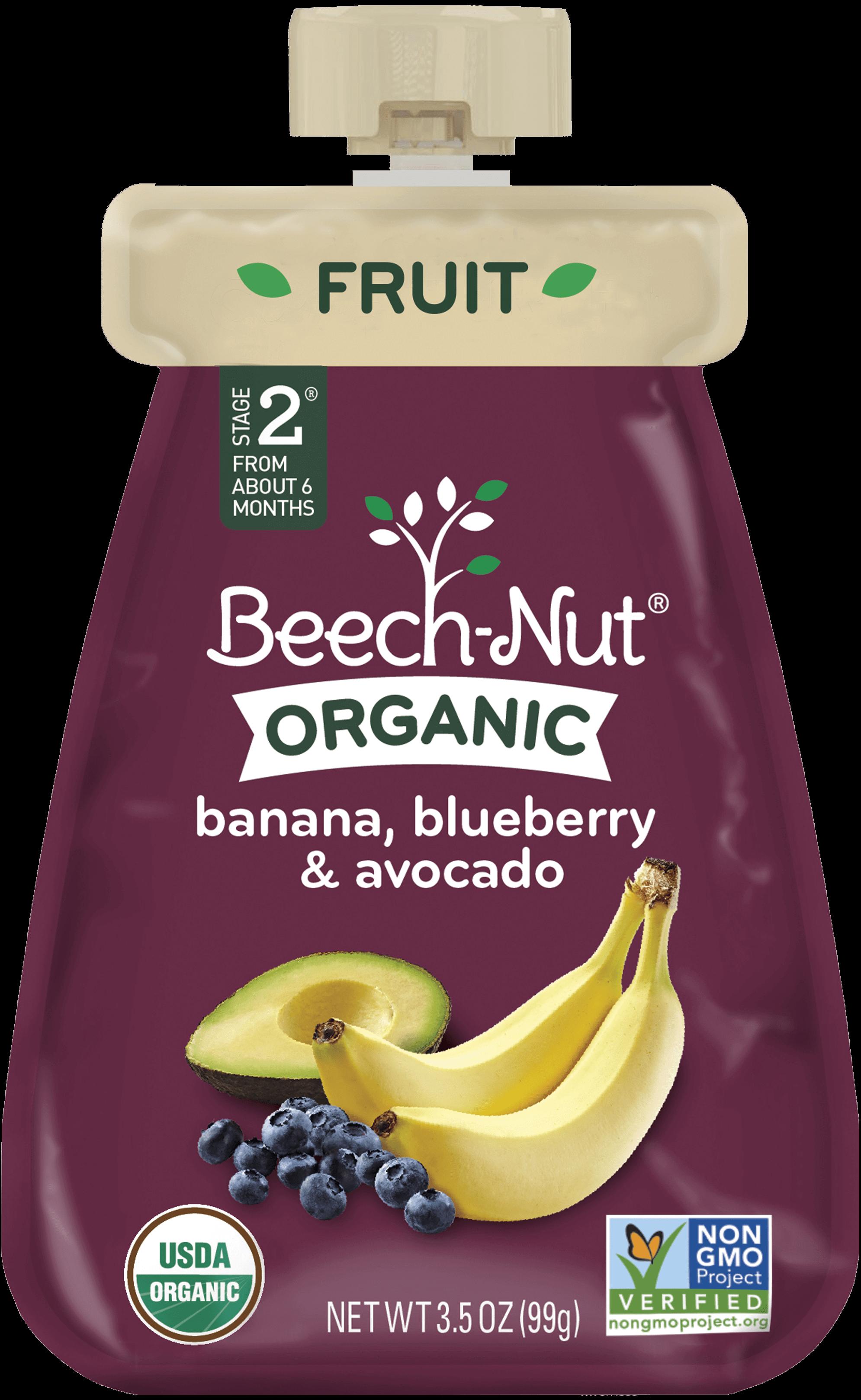Organic Banana Blueberry Amp Avocado Pouch Organic Baby