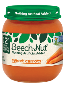 Beech-Nut® sweet carrots jar