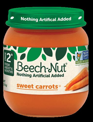 Beech-Nut® sweet carrots jar