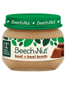 Beech-Nut® beef + beef broth jar
