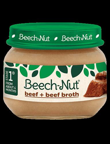 Beech-Nut® beef + beef broth jar