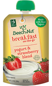 yogurt & strawberry blend breakfast on-the-go pouch