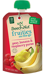 pear, banana & raspberry fruities on-the-go pouch