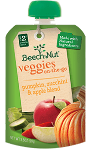 pumpkin, zucchini & apple veggies on-the-go pouch