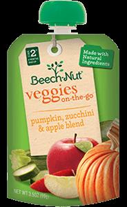 pumpkin, zucchini & apple veggies on-the-go pouch