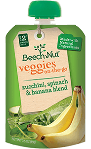 zucchini, spinach & banana veggies on-the-go pouch