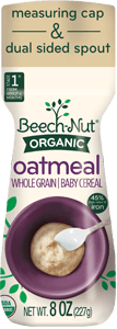 organic oatmeal cereal canister