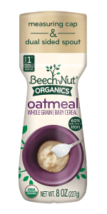 Organics oatmeal cereal canister