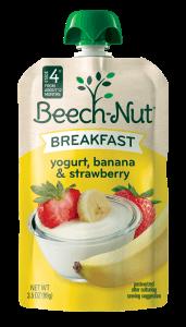 yogurt, banana & strawberry Breakfast pouch