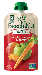 apple, mango & carrot fruities on the go pouch