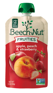 apple, peach & strawberry Fruities pouch