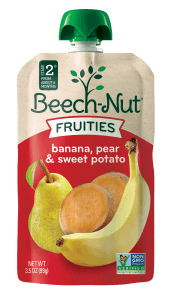 banana, pear & sweet potato fruities on the go pouch