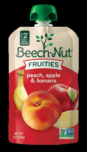 peach, apple & banana Fruities pouch