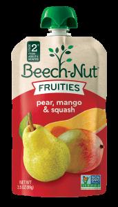 pear, mango & squash Fruities pouch