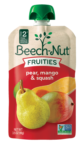 pear, mango & squash Fruities On-The-Go pouch
