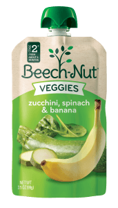 zucchini, spinach & banana veggies on the go pouch