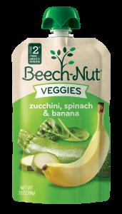zucchini, spinach & banana Veggies pouch